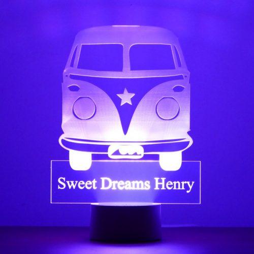 Personalised Camper Van Night Light