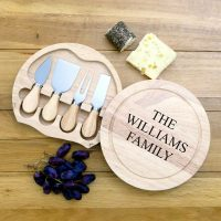 Personalised cheese board knife set