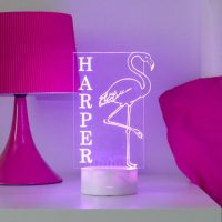 Personalised Flamingo Night Light